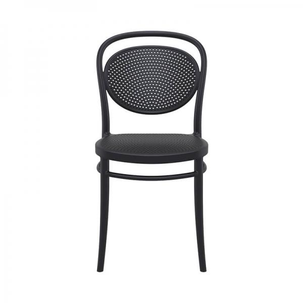 chaise noire en plastique pour jardin  - 9