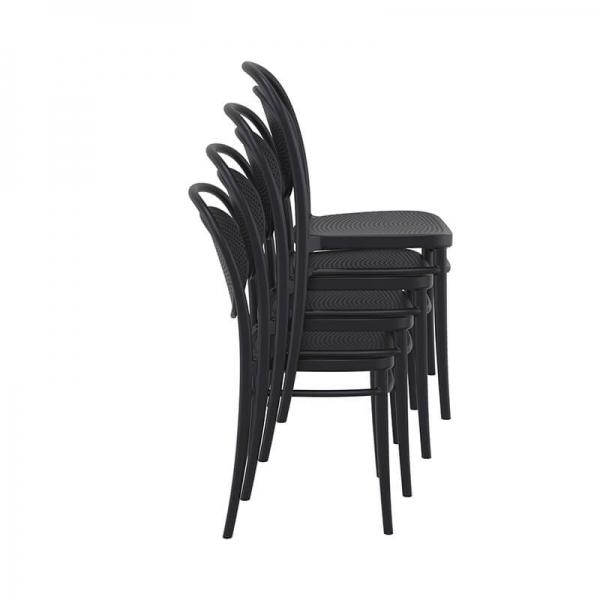 chaise empilable en plastique pour jardin  - 21