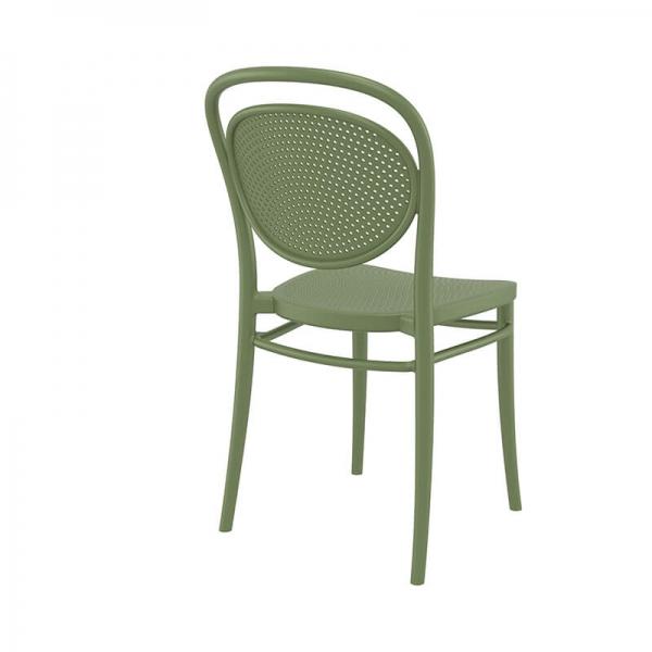 chaise d'extérieur verte en plastique  - 2