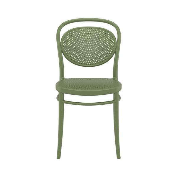 chaise d'extérieur moderne et empilable  - 4