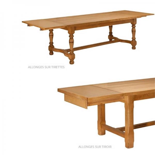Table maison de campagne en bois massif avec allonges made in France - Ferme - 3