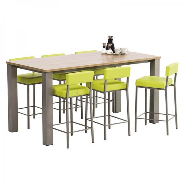 Table de cuisine snack rectangle en stratifié - Quinta - 2