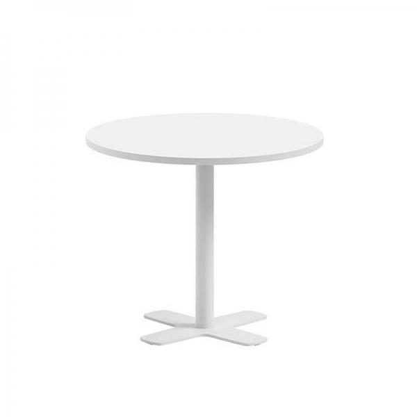 Table ronde pour cuisine en stratifié avec pied central diamètre 70 cm - Spinner - 2