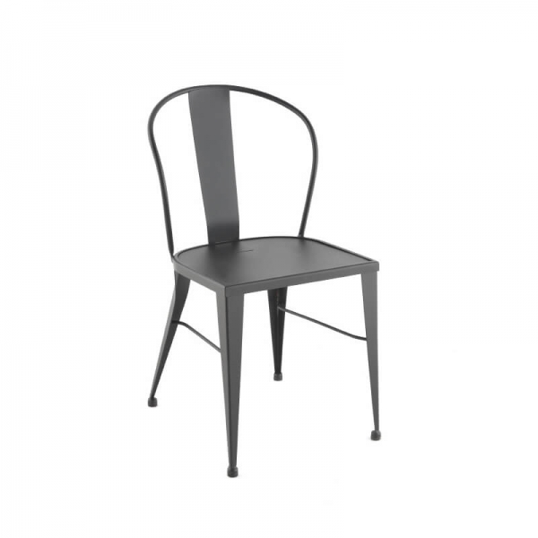 Chaise de jardin vintage en métal style industriel - 531 - 1