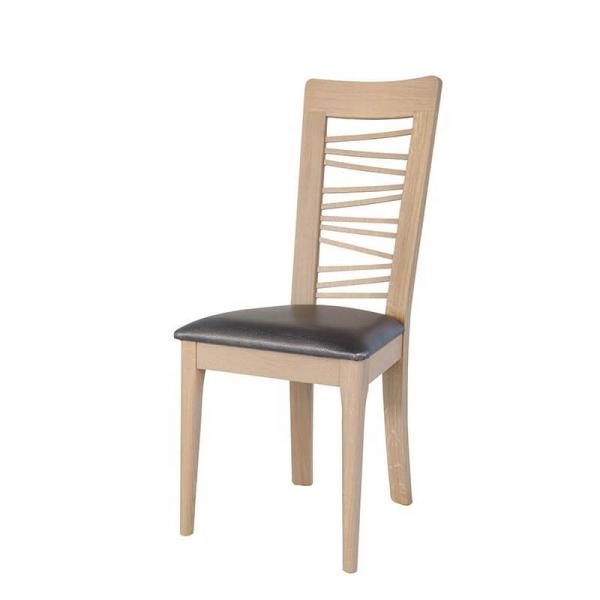 Chaise en chêne massif contemporaine noire made in France - Arum 1664) - 2