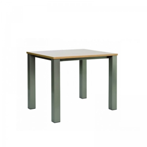 Table snack de cuisine carrée en stratifié et métal - Quinta