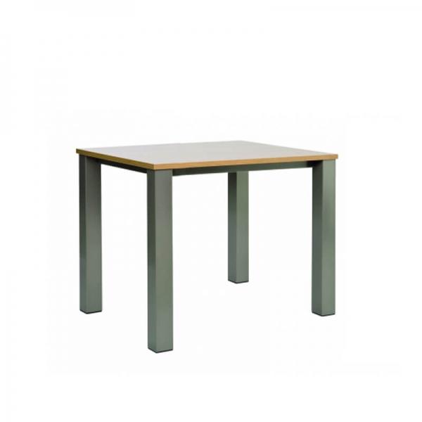 Table snack de cuisine carrée en stratifié et métal - Quinta - 1