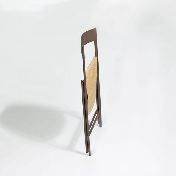 Chaise pliable en bois et métal  - 3