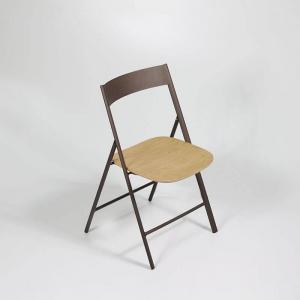 Chaise pliante de cuisine en bois et métal