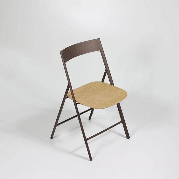 Chaise pliante de cuisine en bois et métal - 1