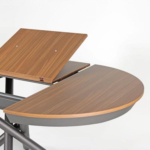 Table à manger ronde design extensible - 5
