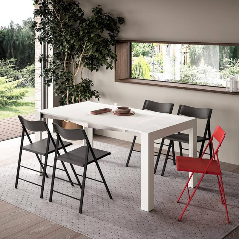Table Console Extensible De Fabrication Italienne En Melamine Slimmy 4 Pieds Com
