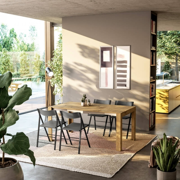 Table console bois extensible fabrication italienne - Slimmy - 3