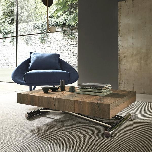 Table relevable design avec rallonges fabrication italienne - Calypso - 2