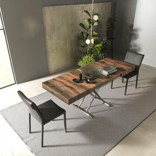 Table modulable en hauteur avec rallonges - 6