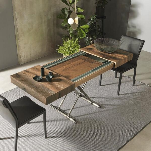 Table avec rallonge modulable en hauteur  - 7