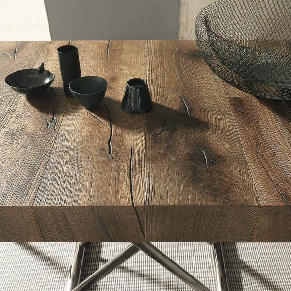 Table en bois relevable avec allonge  - 8