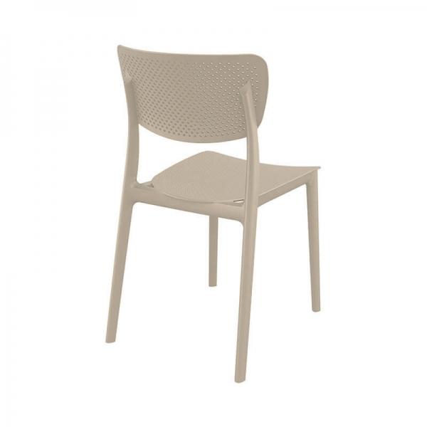 Chaise de cuisine micro perforée en plastique moderne - Lucy - 26