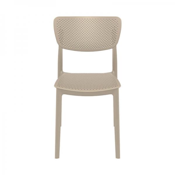Chaise de salle à manger en polypropylène taupe - Lucy - 27