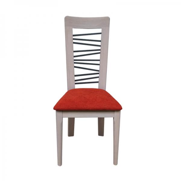 Chaise contemporaine en tissu rouge made in France - Arum 1664 - 1