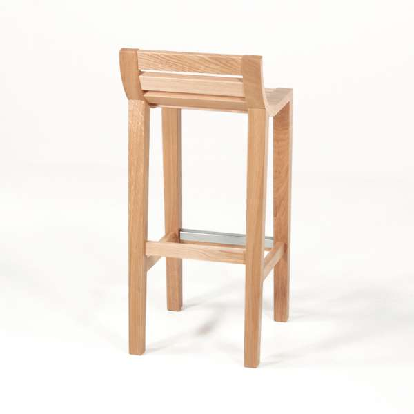 Tabouret haut contemporain fabrication française en bois massif - 471 - 4