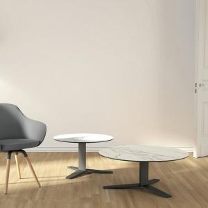 table basse moderne en céramique et métal peliccan mini