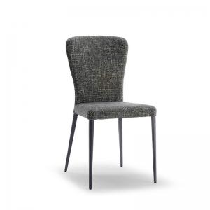 Chaise moderne en tissu et métal - Francine