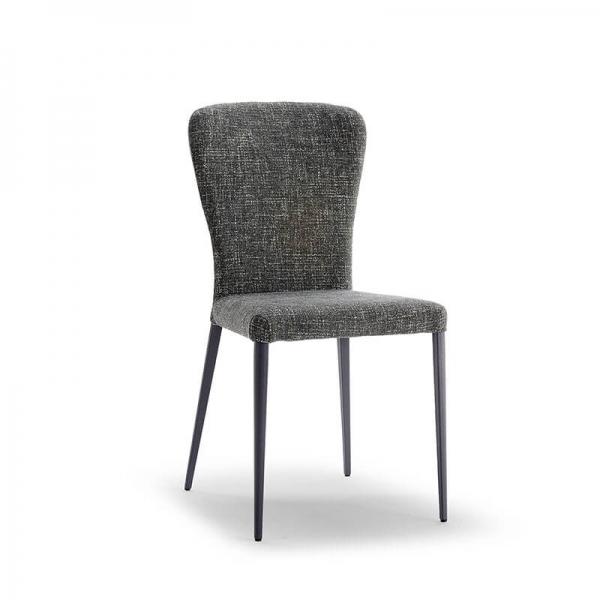 Chaise moderne en tissu et métal - Francine - 1