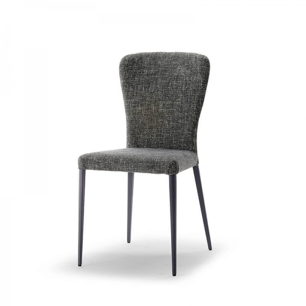 Chaise en tissu et en métal tendance - Francine - 2