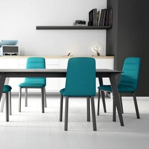 Chaise de salon design en tissu