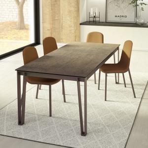 table moderne en céramique et métal okaso