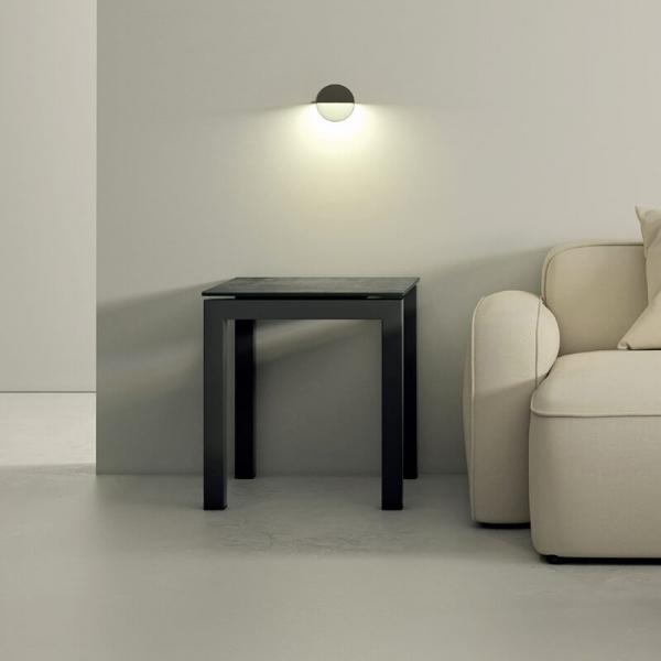Table de salon carrée moderne en céramique - 1