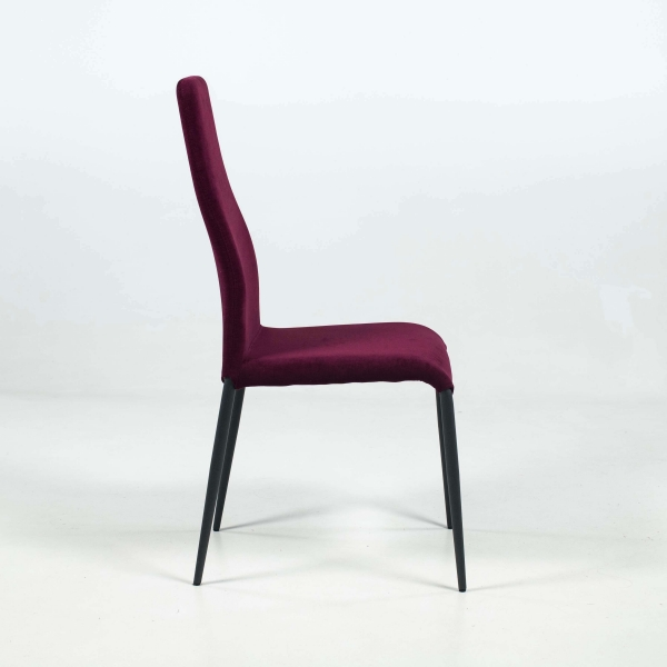 Chaise en tissu et pieds en métal - Mirta - 3