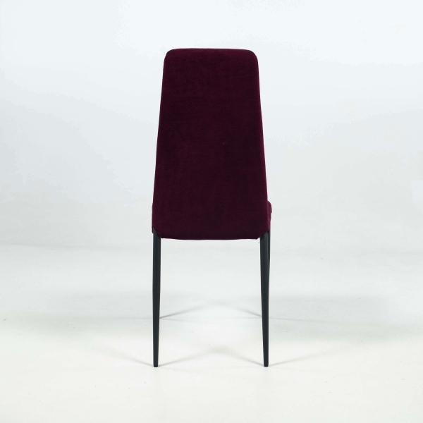 Chaise moderne en tissu et pieds en métal - Mirta - 4