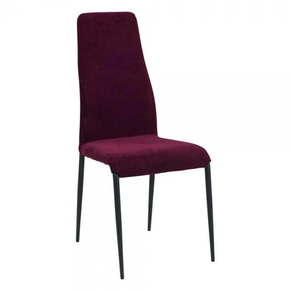 Chaise moderne en tissu violet et pieds en métal - Mirta - 1