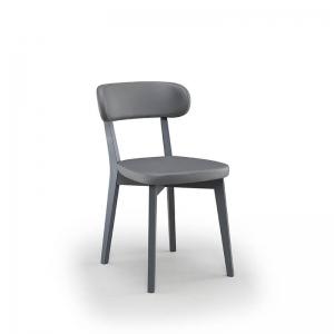 Chaise de cuisine en bois et synthétique made in Italie - Peter
