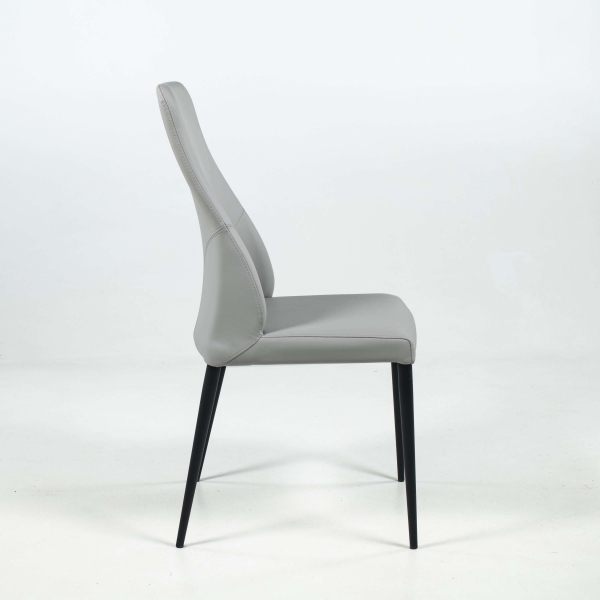 Chaise moderne gris clair - Mathilde - 3