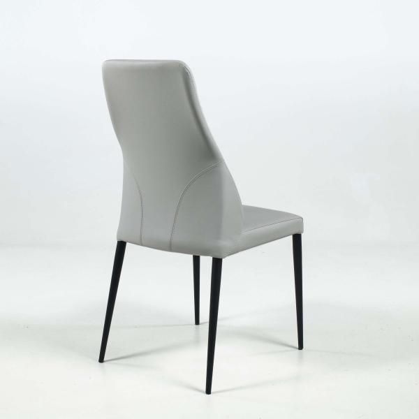 Chaise moderne en synthétique avec dossier incurvé - Mathilde - 5