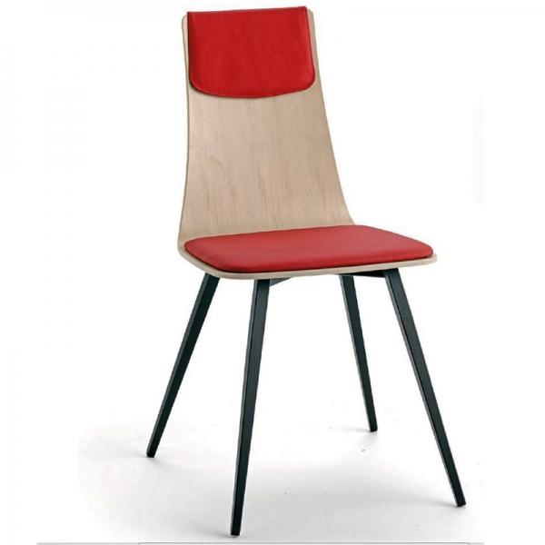 Chaise italienne design tricolore avec pieds en métal - Amélie - 3