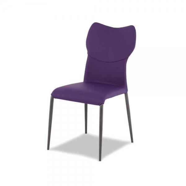 chaise moderne italienne violette avec pieds métal - jade - 2