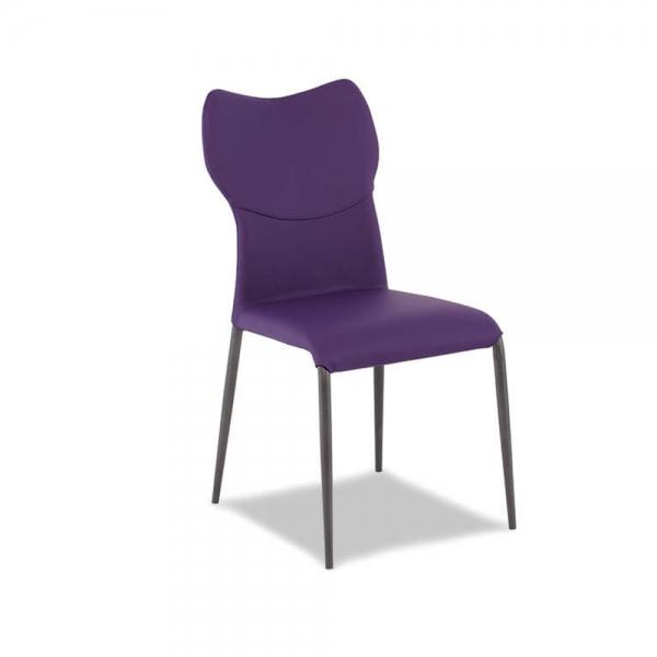 chaise moderne italienne violette avec pieds métal - jade - 1
