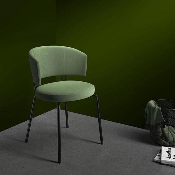 Chaise de cuisine en tissu - 1