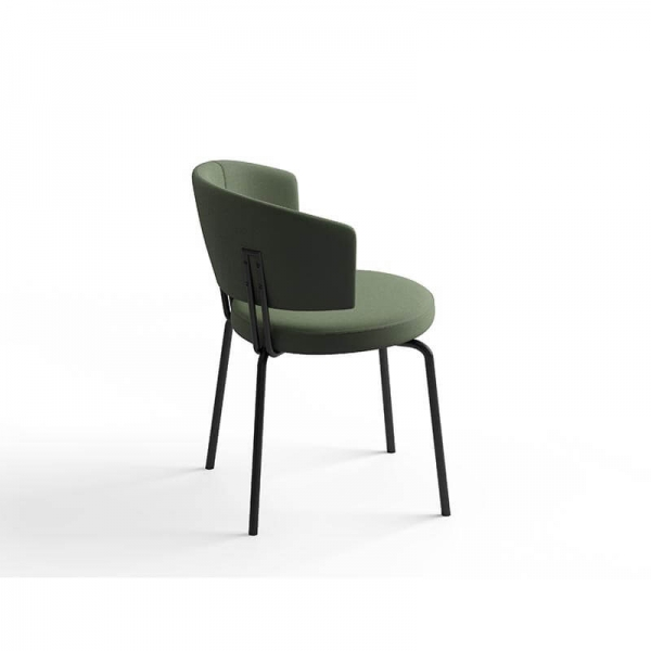 Chaise en tissu avec dossier - 7