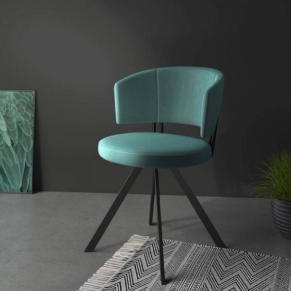 Chaise moderne en tissu  - 1