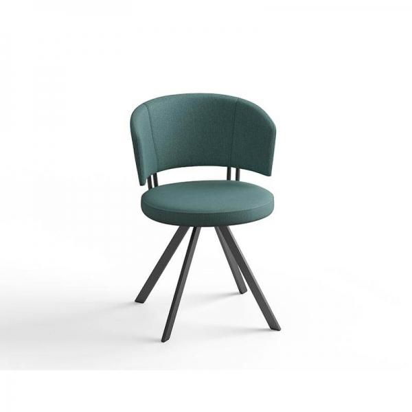 Chaise moderne pivotante en tissu - 6