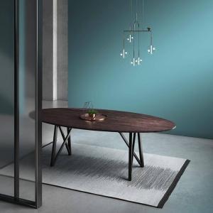 Table design de salle à manger ovale