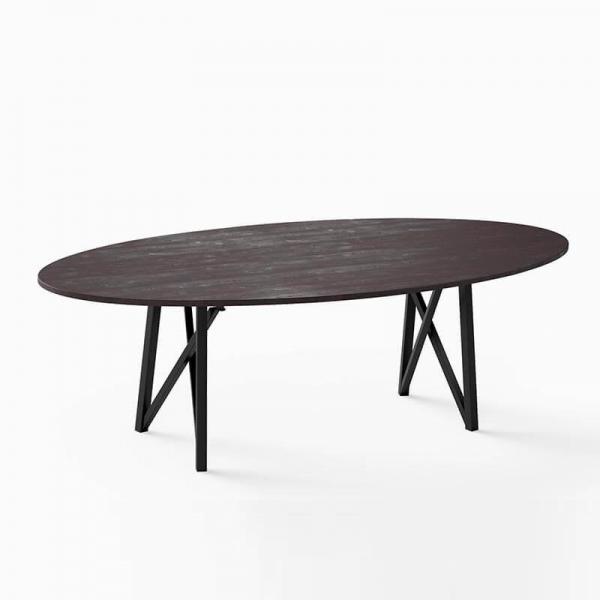 Table tendance ovale pour salle à manger  - 3