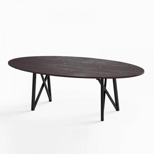 Table de repas design de forme ovale  - 4
