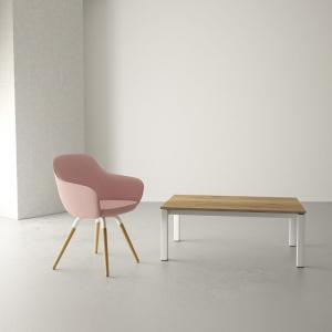 Table basse de salon moderne en stratifié