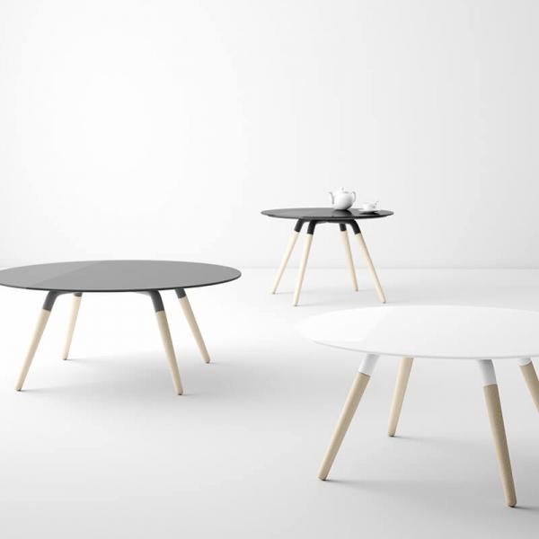 Table basse ronde en verre design - 1